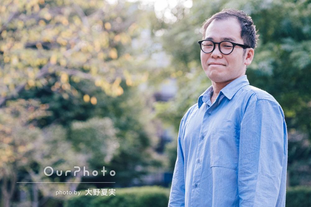 「スピーディで的確なやりとり」柔らかな笑顔でプロフィール写真の撮影