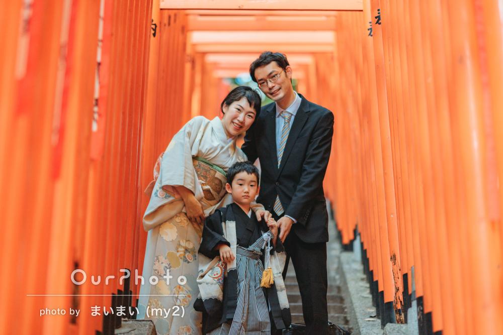 「どの写真も息子が楽しそうで素敵な仕上がり」袴姿で七五三の撮影