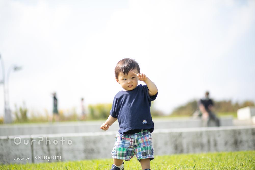 「息子のいい笑顔の写真ばかり」息子さんの1歳の記念に家族写真の撮影
