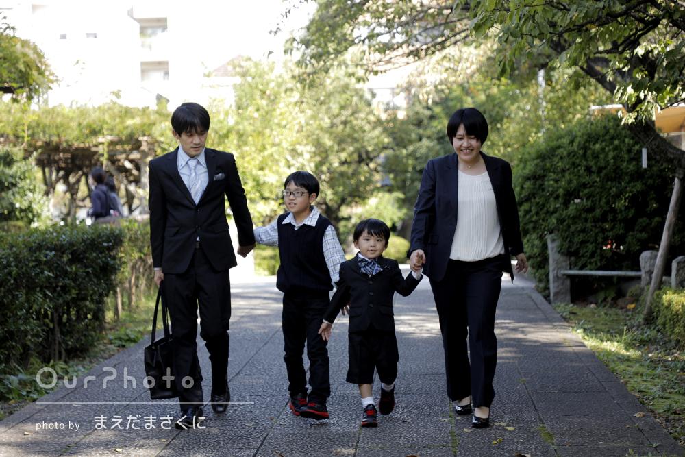 「とても丁寧に楽しく撮影」家族皆で洋装!男の子の5歳の七五三の撮影