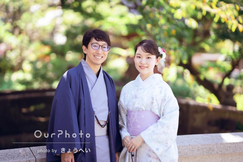 「どれも素敵な写真ばかりで、良い記念に」和装でカップルフォトの撮影