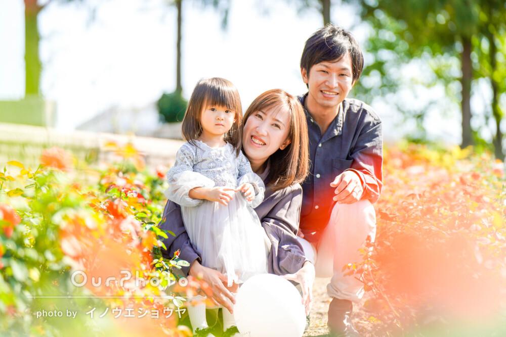 「ポージングもいろいろと提案して下さった」公園で家族写真の撮影