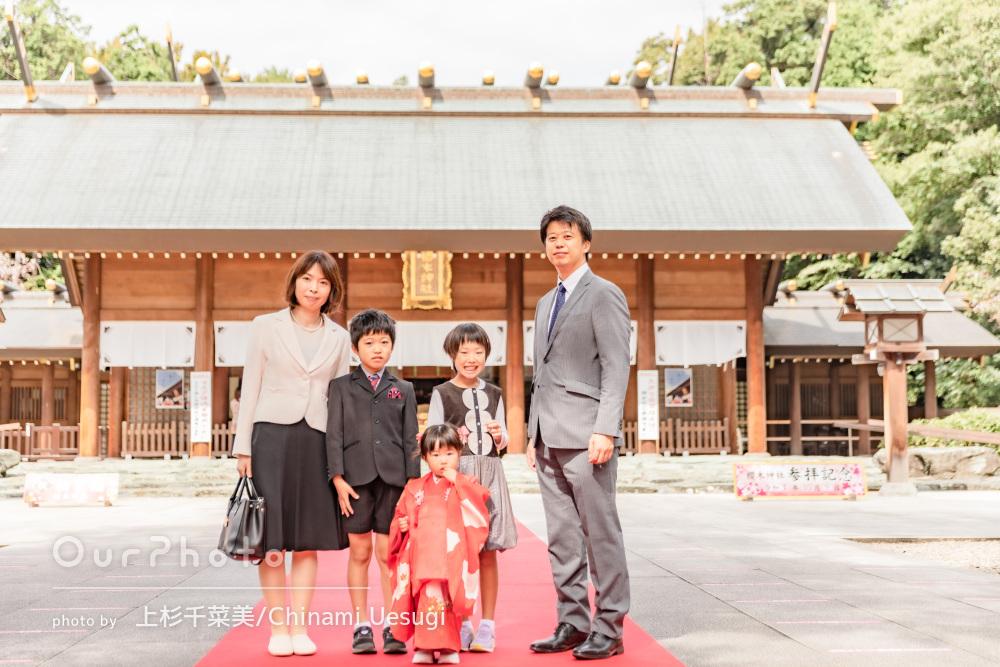 「とても素敵な写真ばかりで、とっても嬉しい」桜の前で七五三の撮影