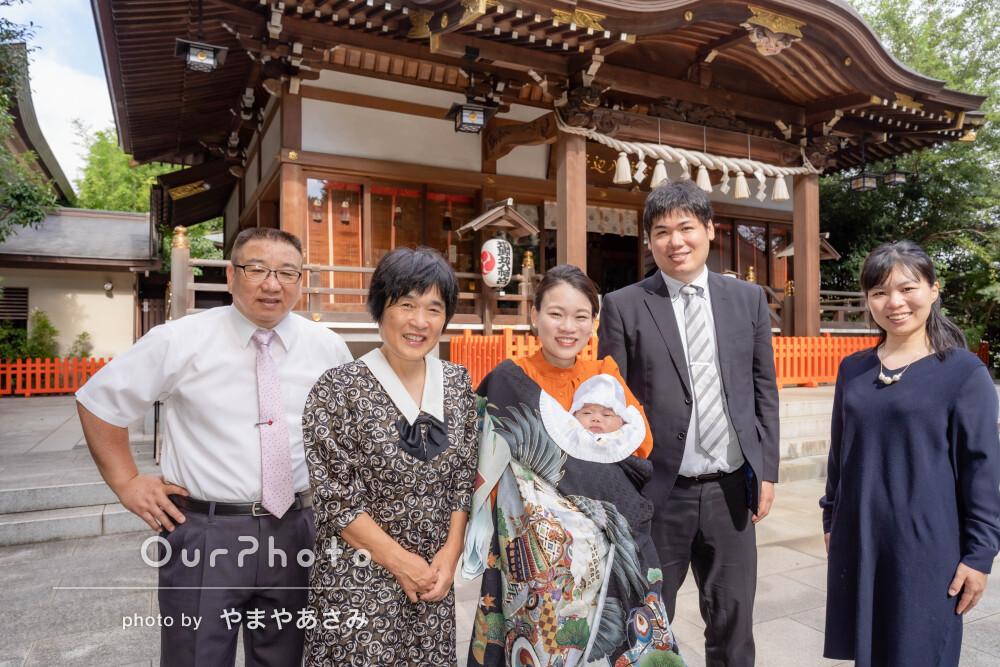 「リラックスしながら素敵な写真を」祖父母も一緒にお宮参りの撮影