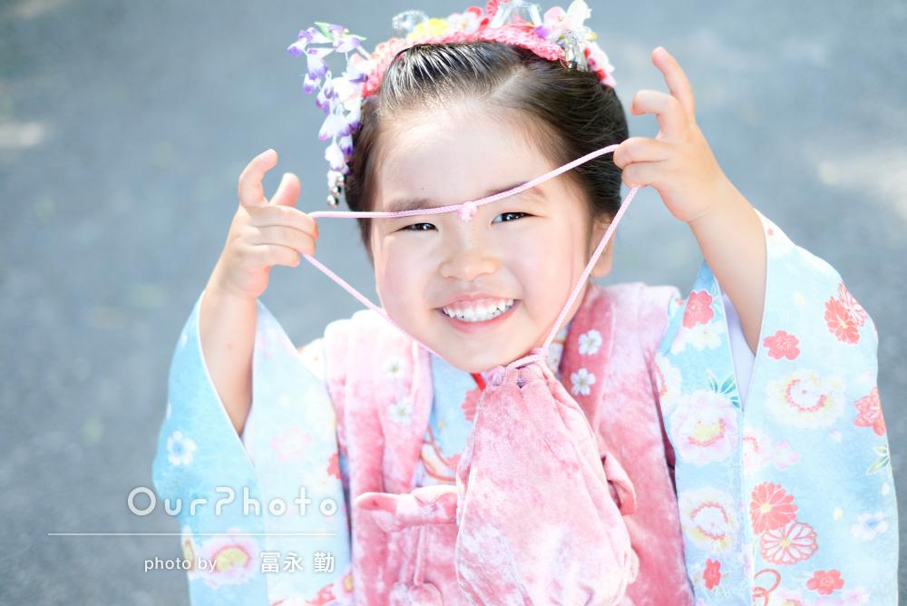 「とても子どもに優しくて」表情豊かで可愛らしい3歳の七五三の撮影