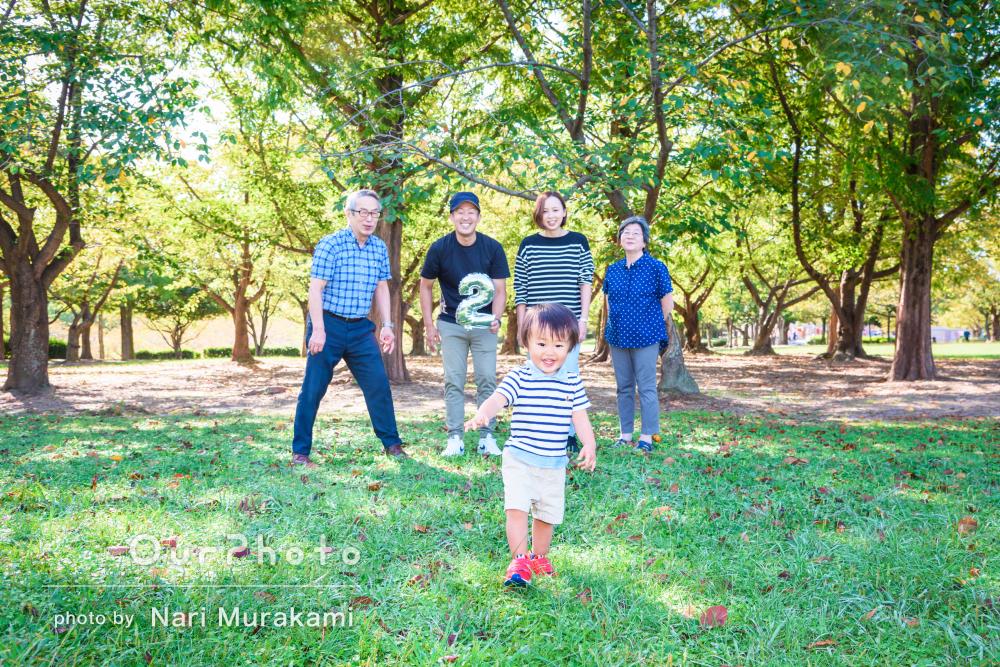 「息子も終始ニコニコ」ご家族の愛情がたっぷりの家族写真の撮影
