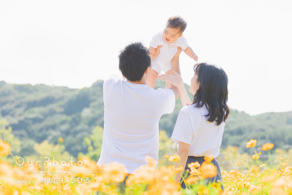 「一生の記念となりました」ハーフバースデイを記念した家族写真の撮影