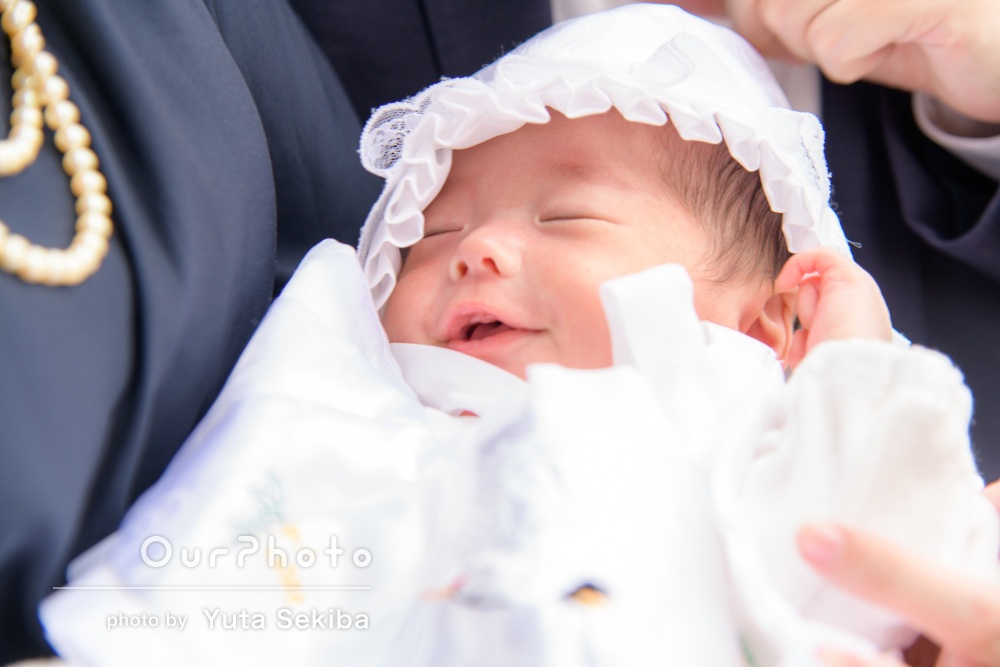 「とても素敵な1日になりました」表情豊かな赤ちゃんのお宮参りの撮影