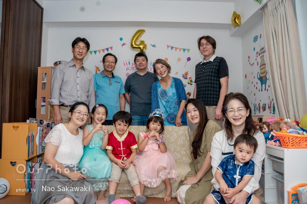 「思い出に残る撮影」ご自宅にて賑やかで盛大な誕生日会!家族写真の撮影