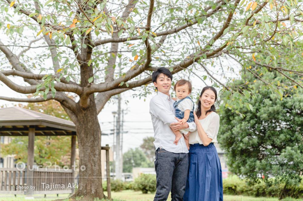 「自然な姿を撮っていただけました」1歳の記念日に家族写真の撮影