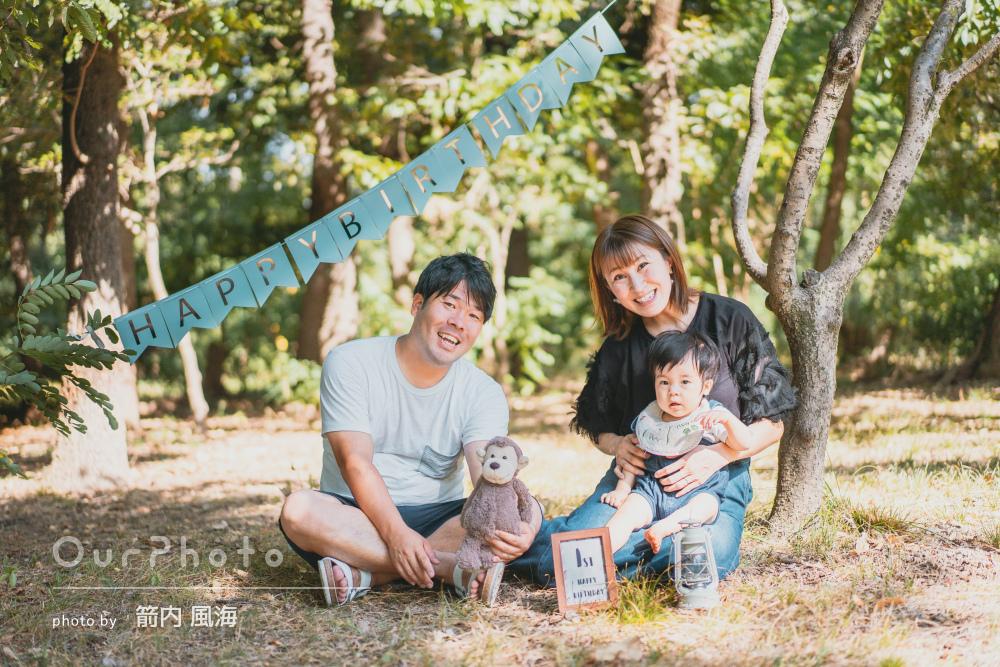 「撮影自体もすごく楽しかった」1歳のお誕生日を記念した家族写真の撮影