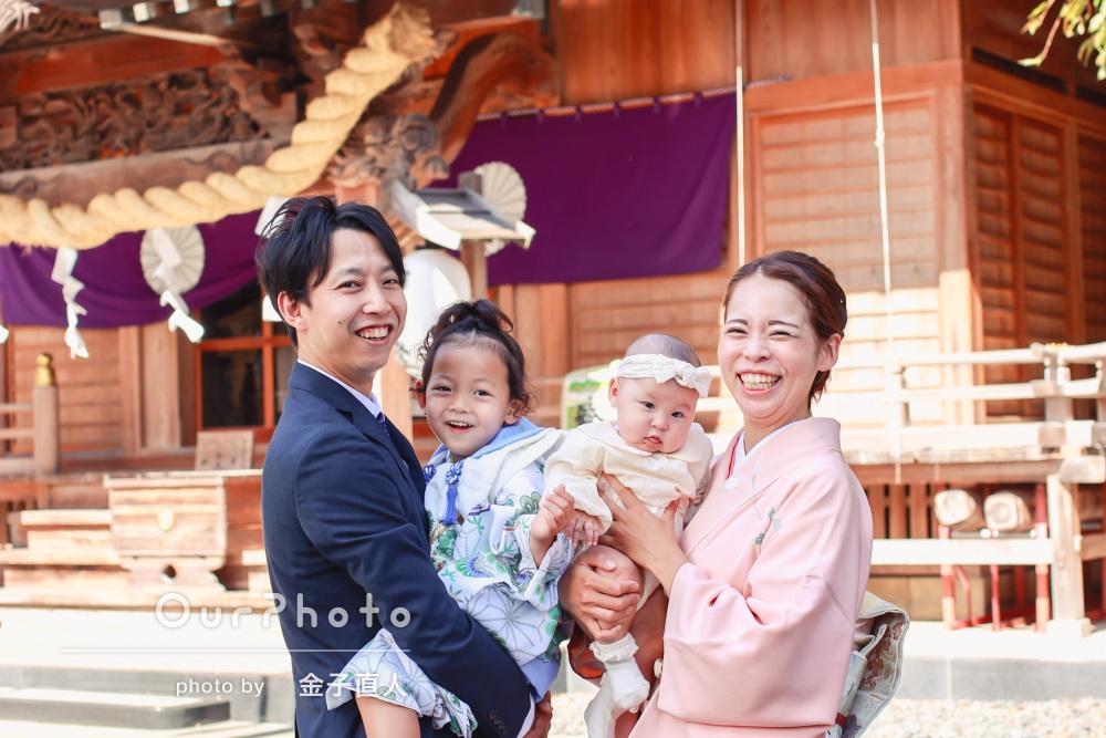「和傘も貸して頂いたことで、七五三ならではの可愛い写真」七五三の撮影