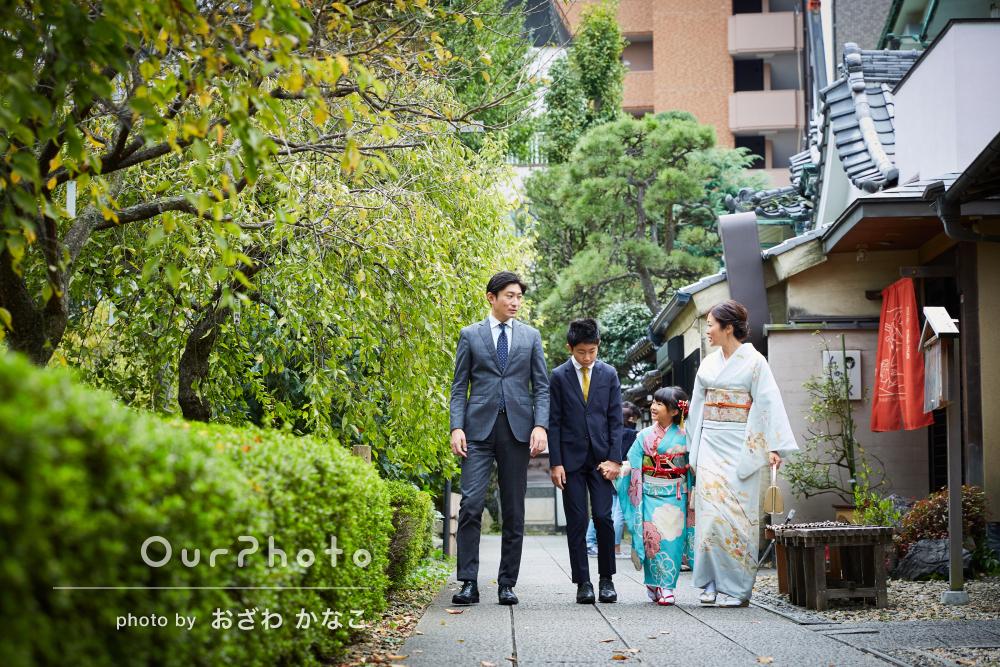 「本当に素敵な1日になりました」神社で7歳女の子の七五三の撮影