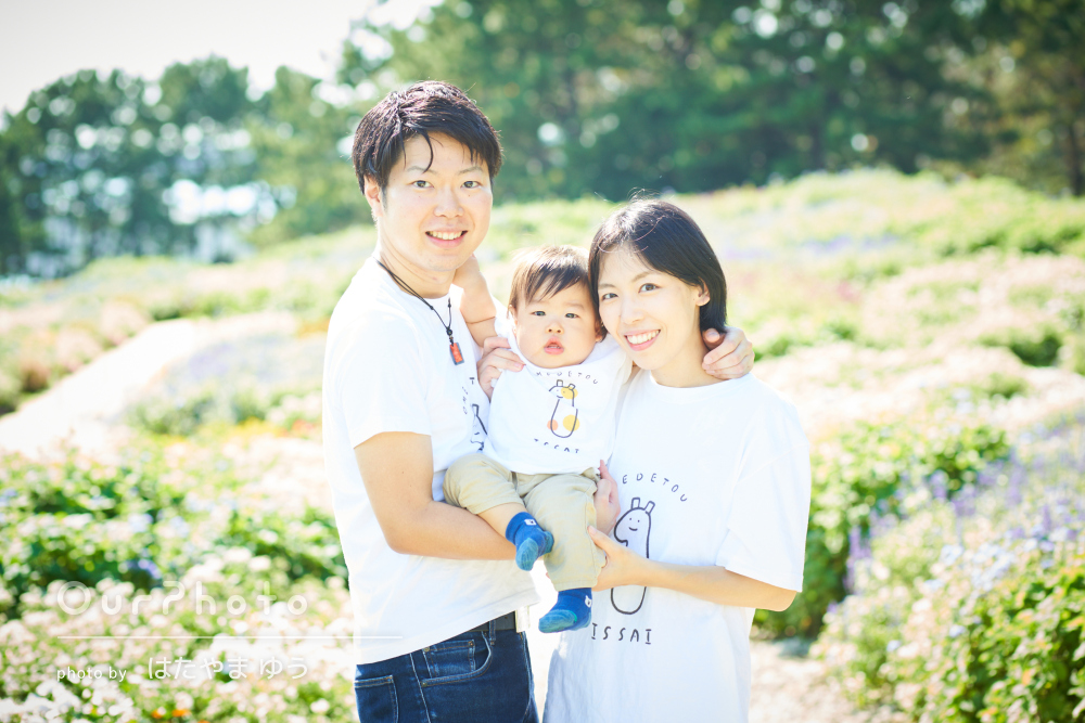 「最高の笑顔の写真がたくさん あり、本当に満足です」家族写真の撮影