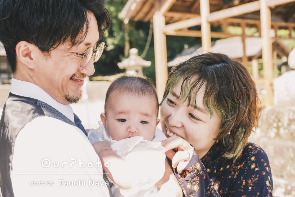「とても素敵で良い思い出」おめめぱっちり!可愛らしいお宮参りの撮影