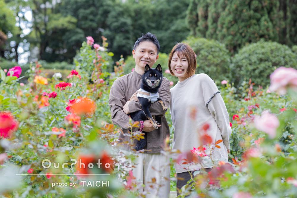 「優しく声掛けをして下さり終始和やか」ペットと一緒に家族写真の撮影