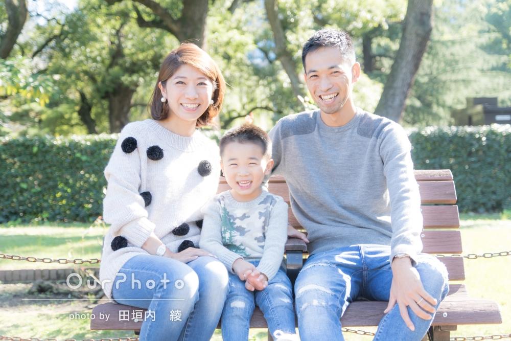「良い思い出になりました!!」ニコニコ家族写真の撮影