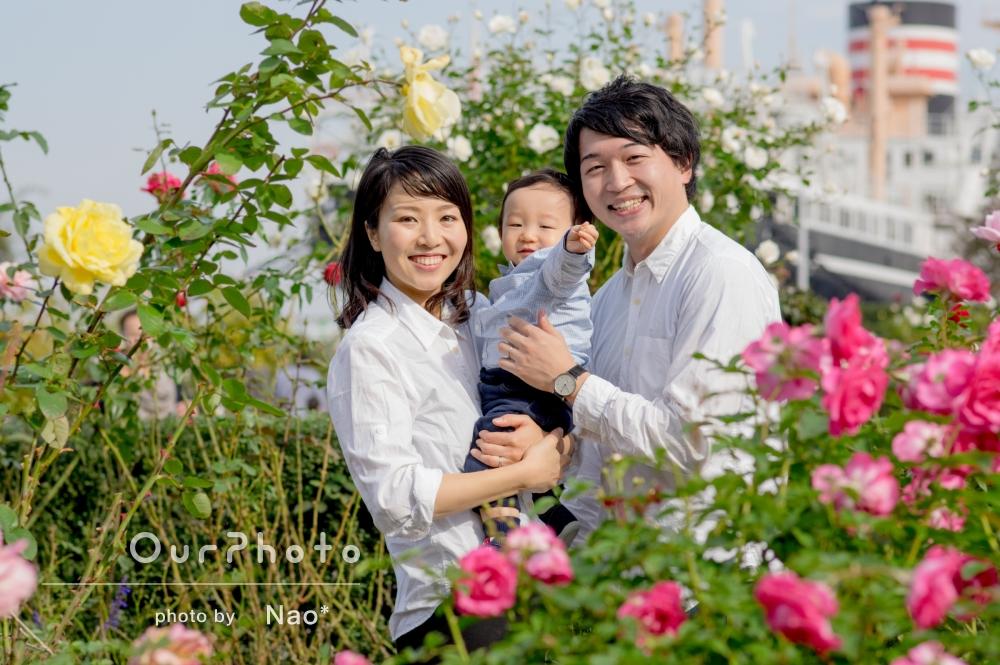 「とてもいい思い出に」お子様の1歳記念に家族写真の撮影