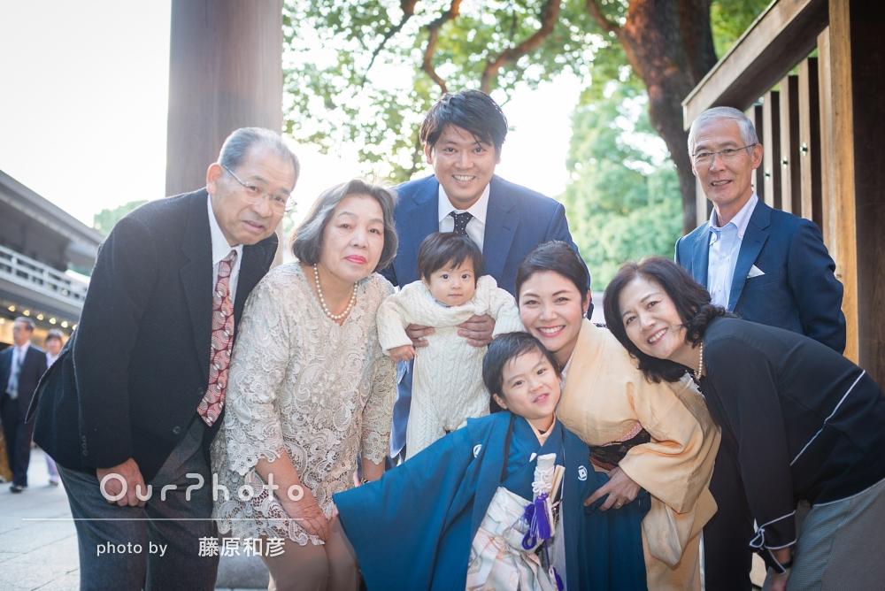 「家族皆リラックスして」笑顔の七五三撮影
