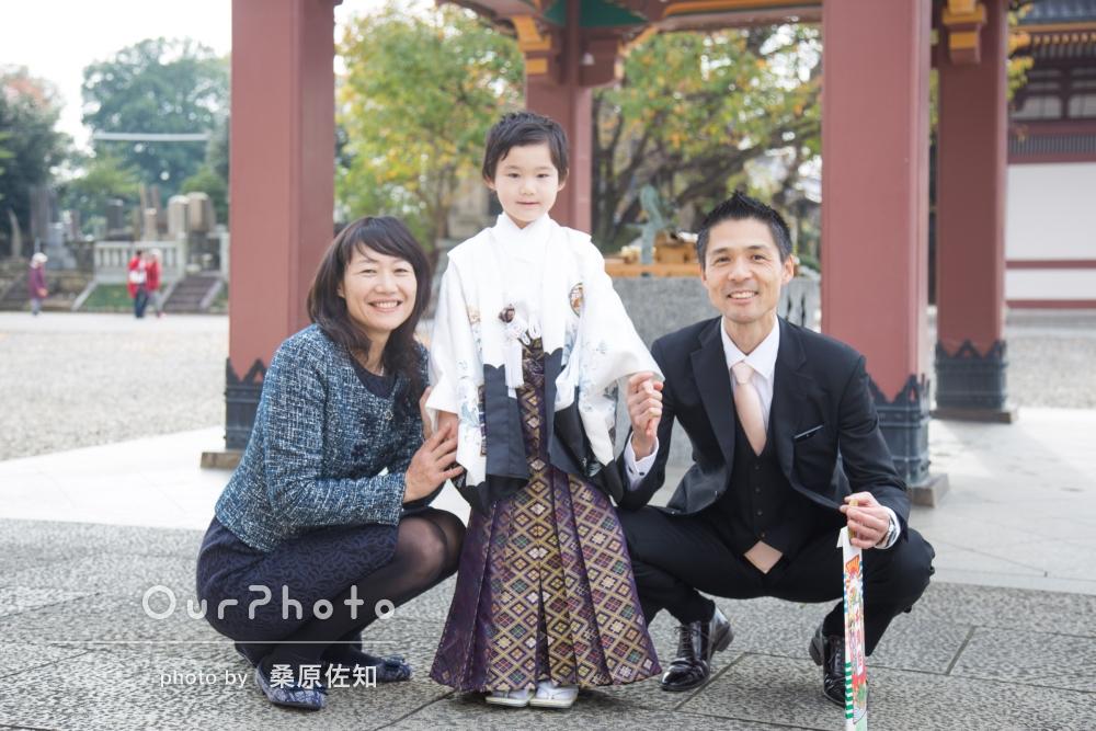 5歳になる男の子の七五三詣りのようすを撮影してほしい!