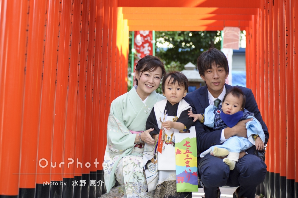 「家族全員が楽しい時間」七五三の撮影