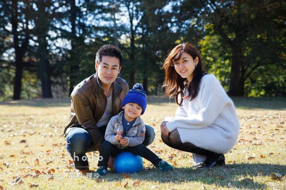 「終始楽しい時間」家族写真の撮影