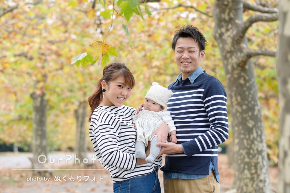 「とっても楽しい時間でした!」公園で家族写真の撮影