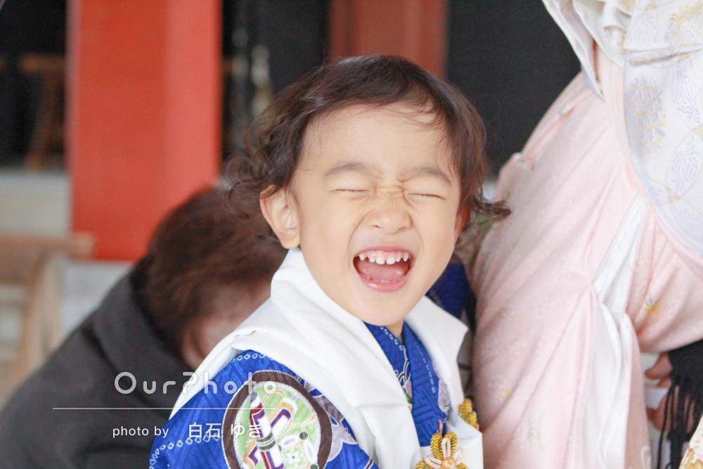 とびっきりの笑顔がステキな七五三の撮影