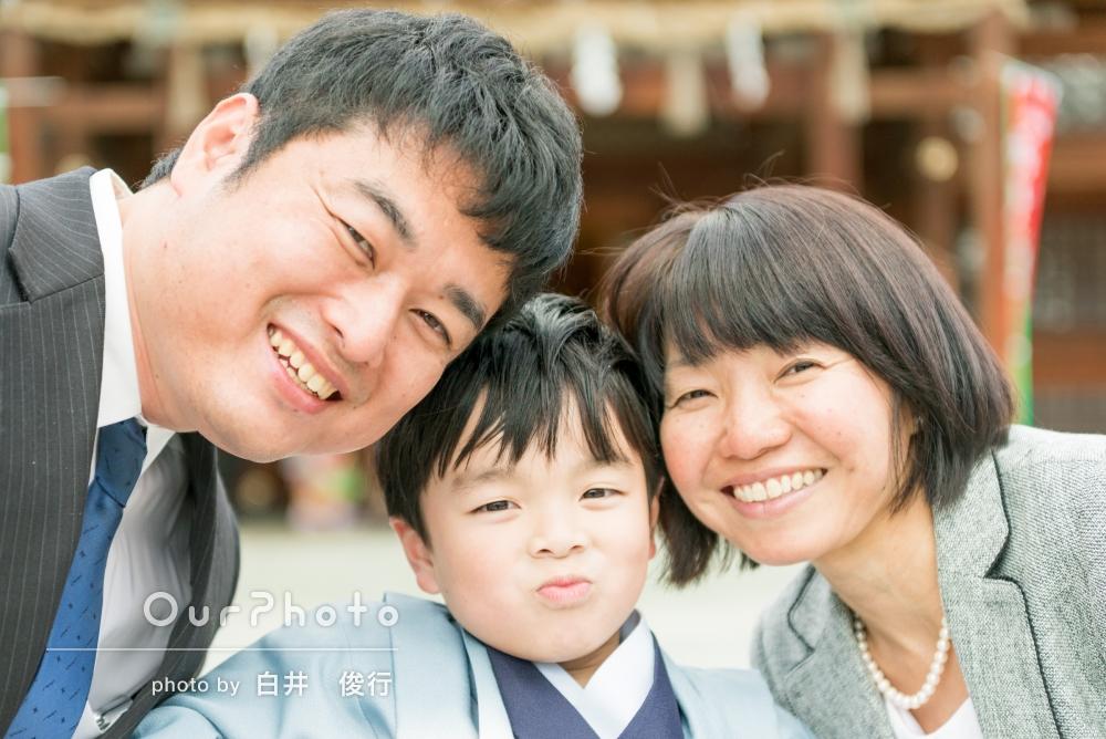 ご家族のあたたかさ伝わる七五三写真の撮影