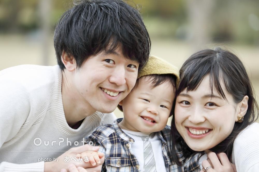 「一生物」お子様の1歳を記念した家族写真の撮影
