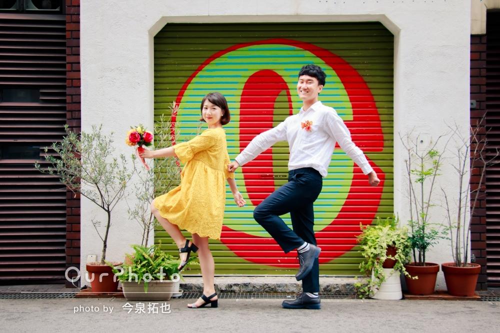 海外から来日中のカップルさん!街中で写真撮影