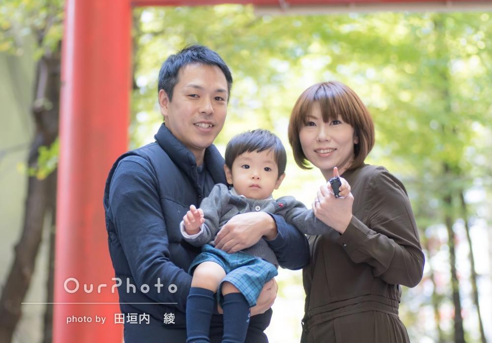 「息子も表情豊かに」親戚家族みんなで七五三とお宮参りの撮影