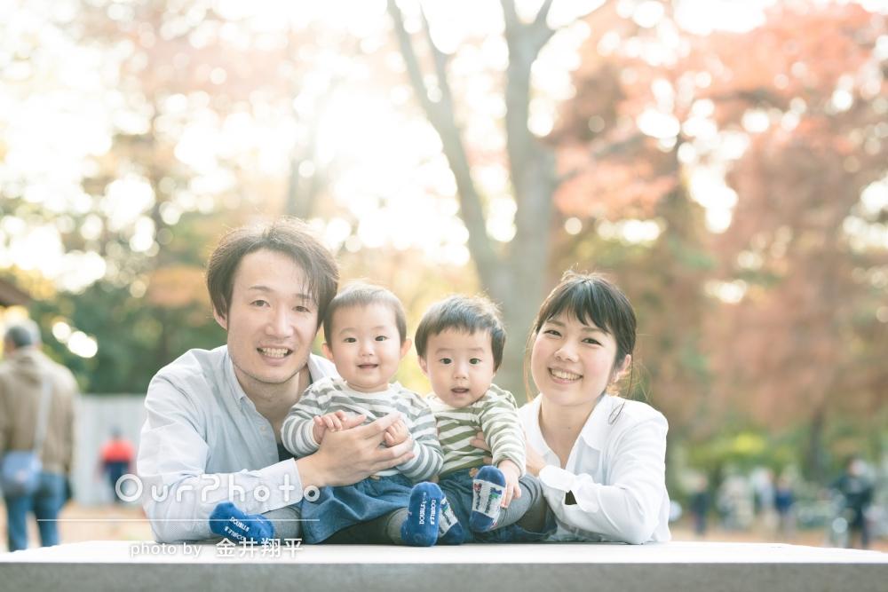 「終始楽しい雰囲気」家族写真の撮影