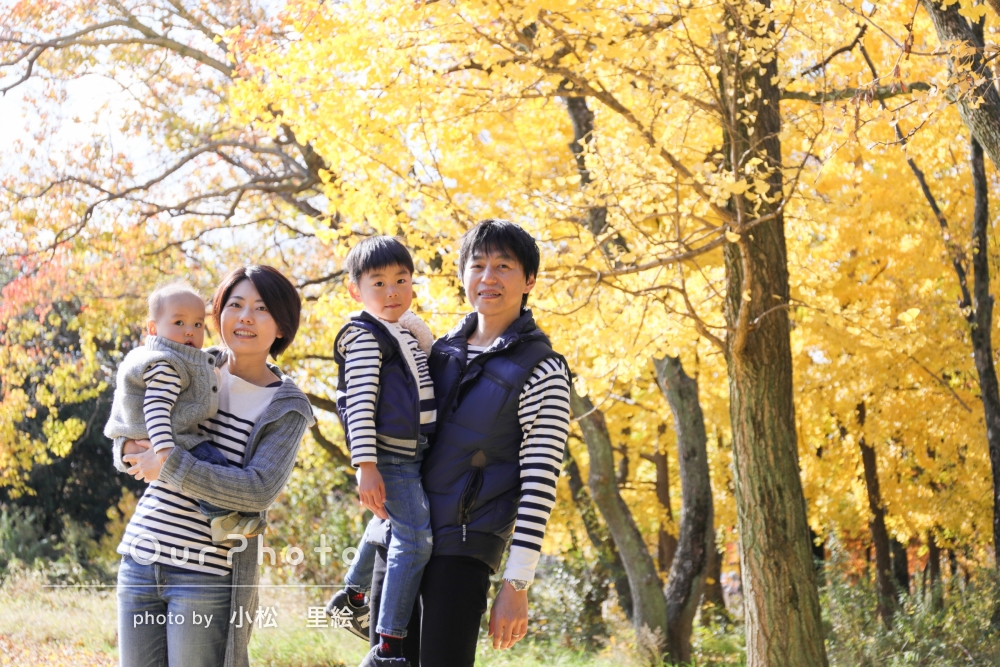 「お気に入りの写真がたくさん」家族写真の撮影