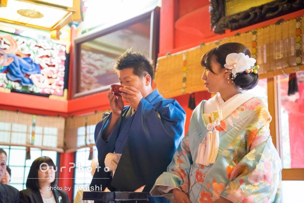 神社とレストランで!結婚式挙式と会食イベントの撮影