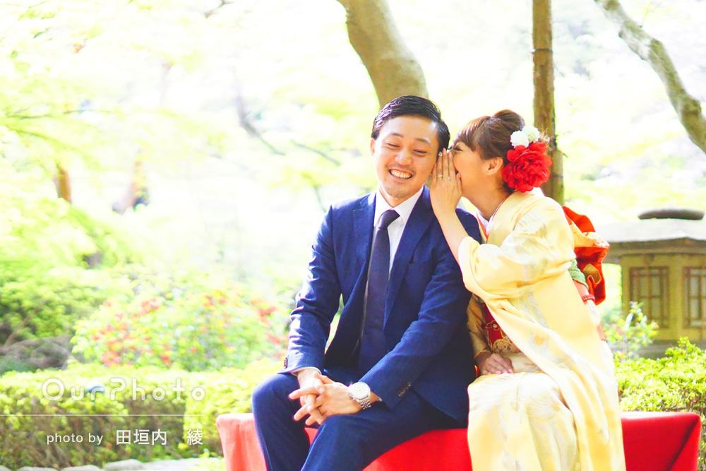 「すごく優しい方でこちらの要望にも応えてくれて助かりました!」結納後の婚約写真