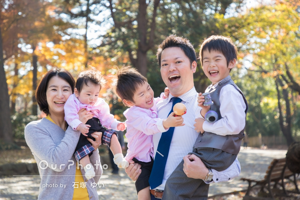 「リラックスして楽しめた」七五三とお宮参りの記念に家族写真撮影