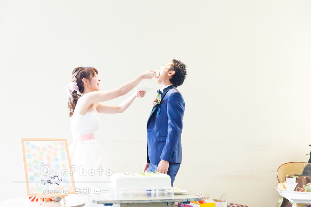 幸せいっぱい!結婚式の二次会の撮影