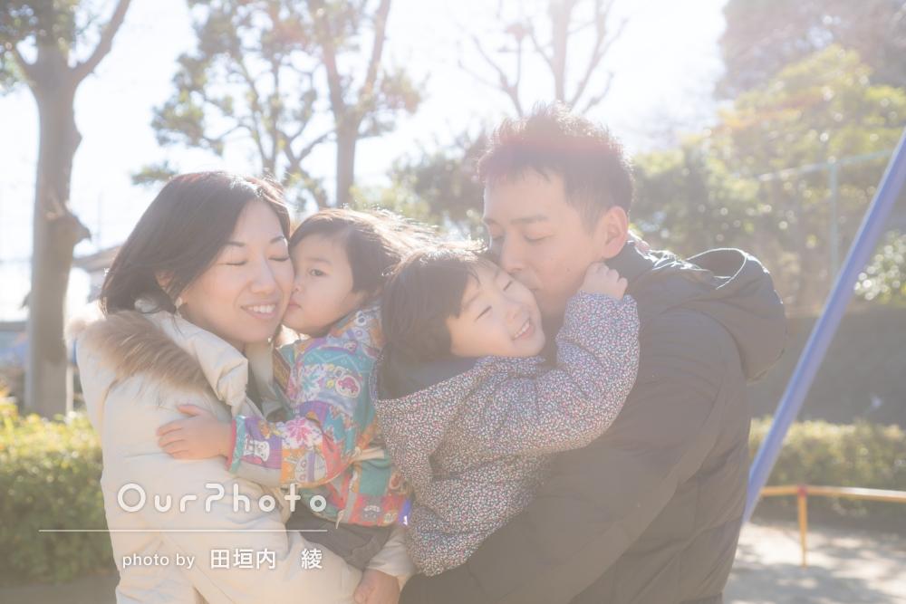 「とても温かくなるような素敵な写真」家族写真の撮影
