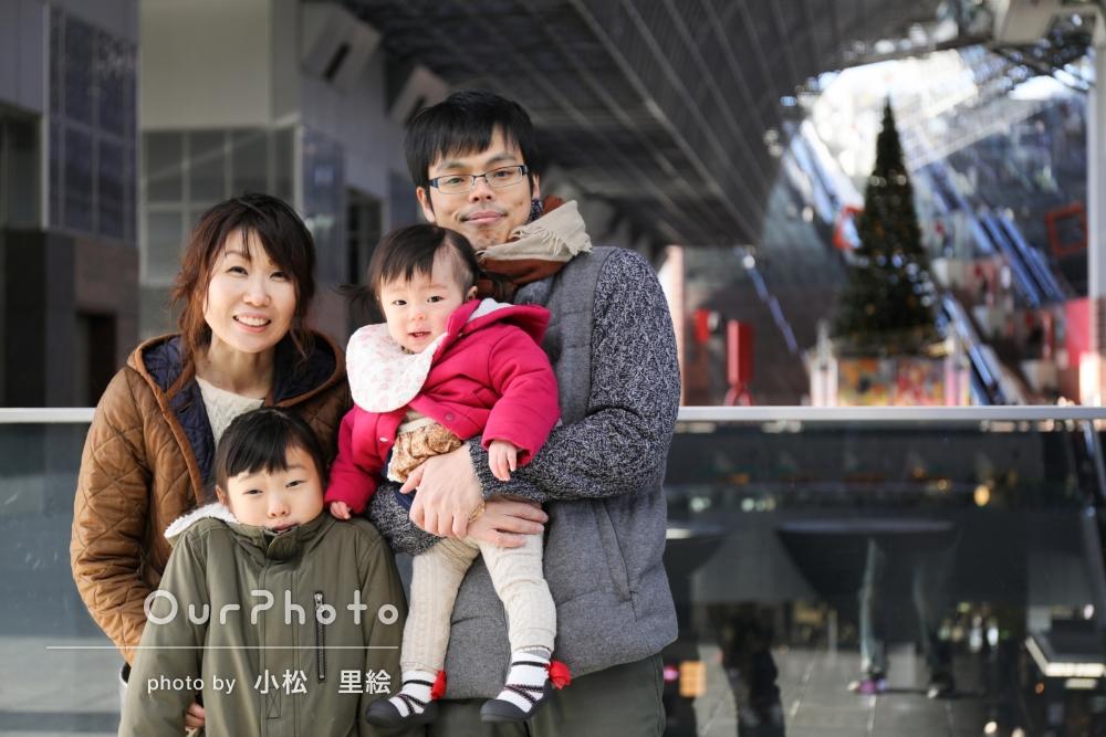 「思い出に」「また違った自分を発見」家族写真とプロフィール写真の撮影