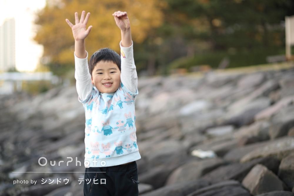 「子供の楽しそうな表情が…嬉しい」年賀状用写真の撮影