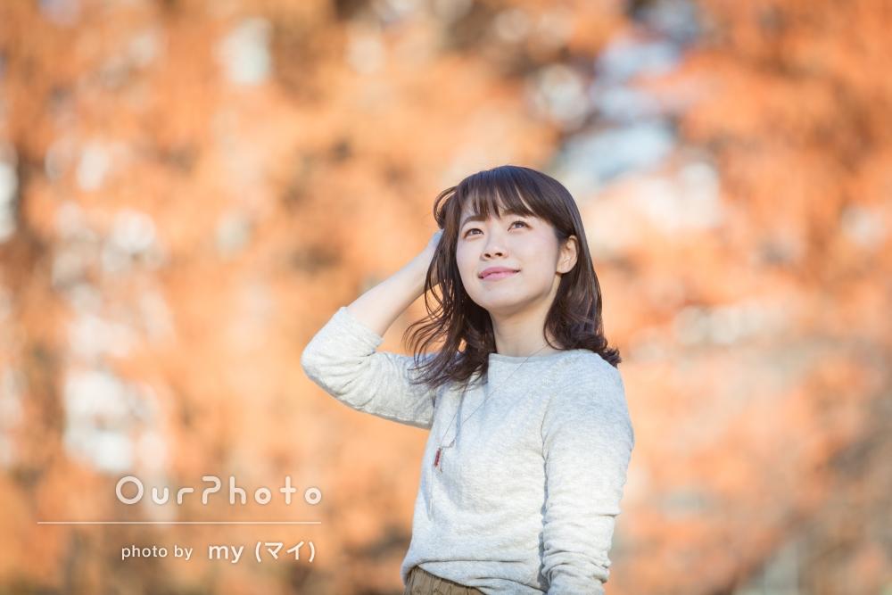 SNSで使用する秋冬らしいプロフィール写真の撮影