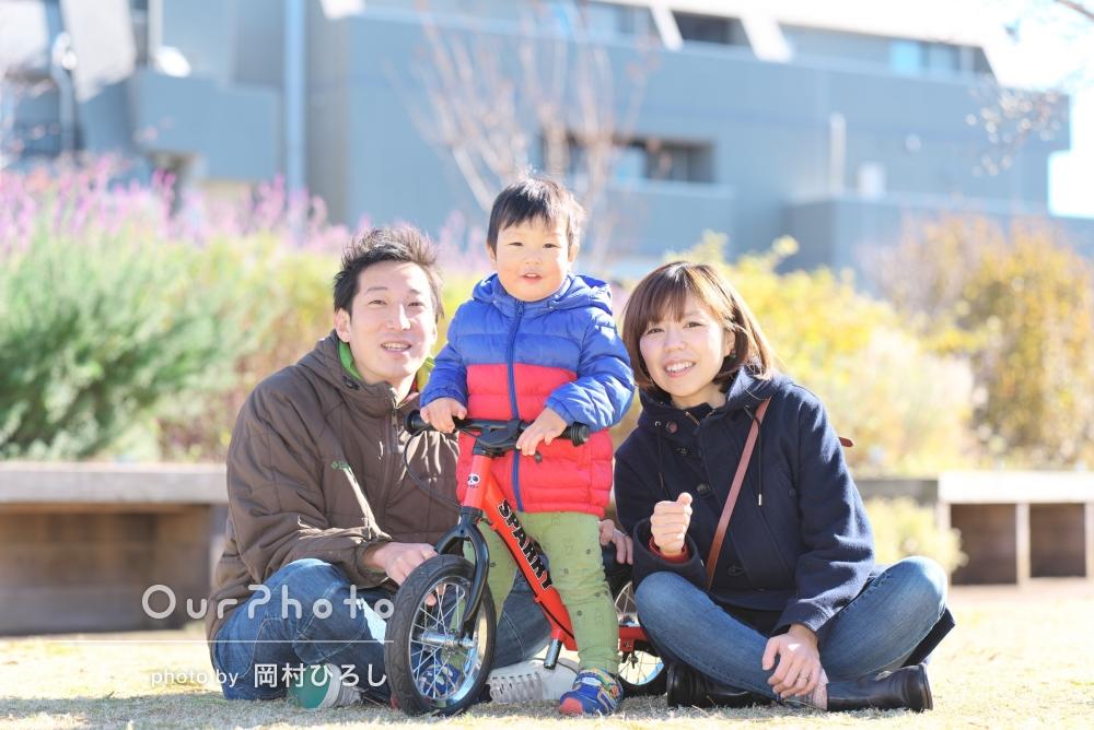 「お陰様で記念に」家族写真の撮影