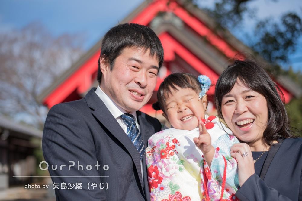 ご自宅と神社で、笑顔満点!七五三の撮影
