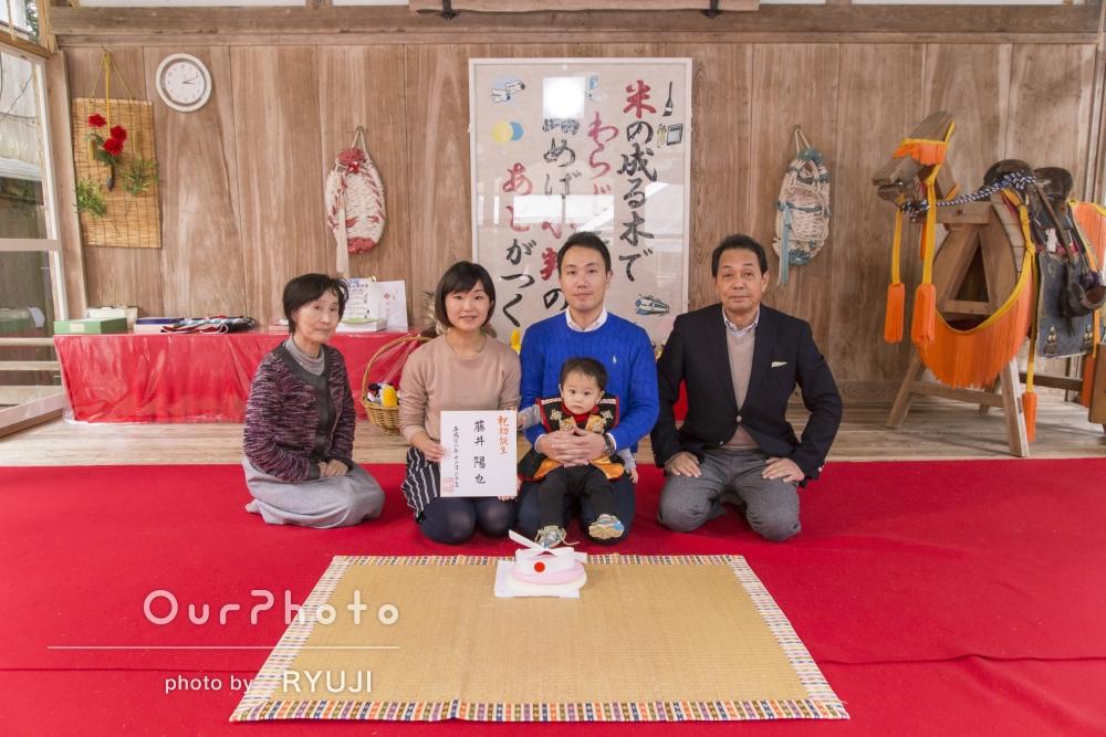 「素敵な写真の数々」神社にて初誕生のお祝いの撮影