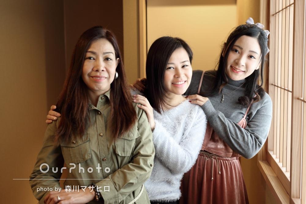 「いい思い出の写真」旅先にて家族写真の撮影