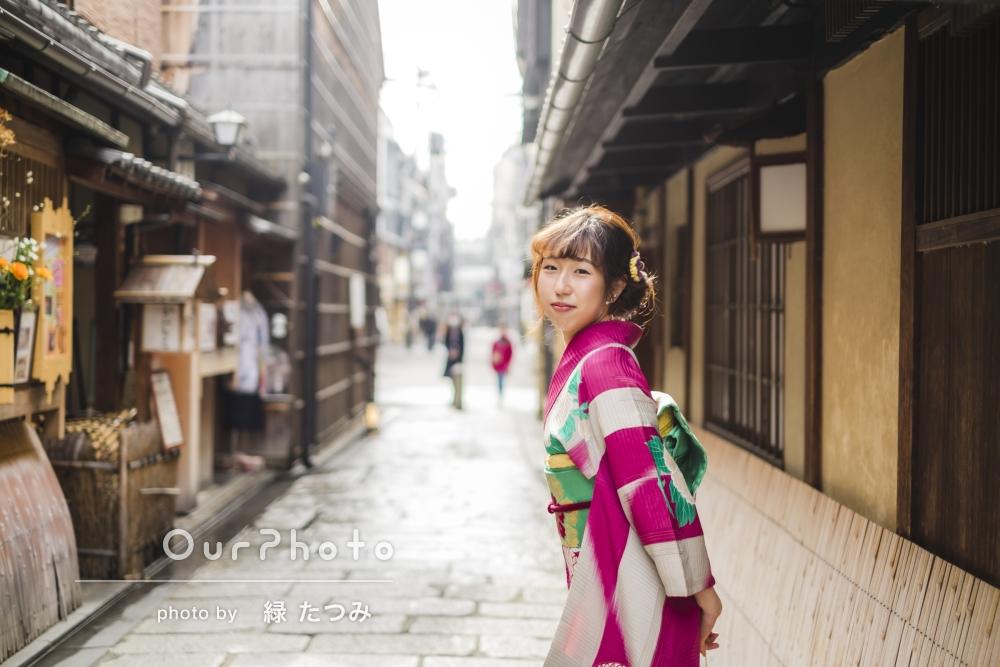 「楽しくて、あっという間」京都にて着物でプロフィール写真の撮影