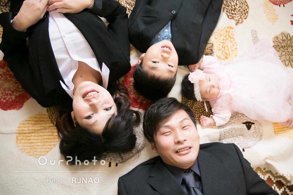 「写真が苦手でしたが、家族写真が残せて大満足です」お宮参りの撮影