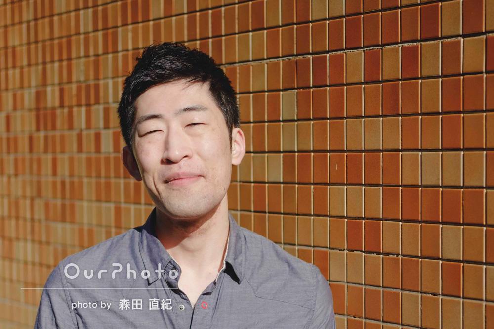 「お話ししながらで終始リラックス」男性プロフィール写真の撮影