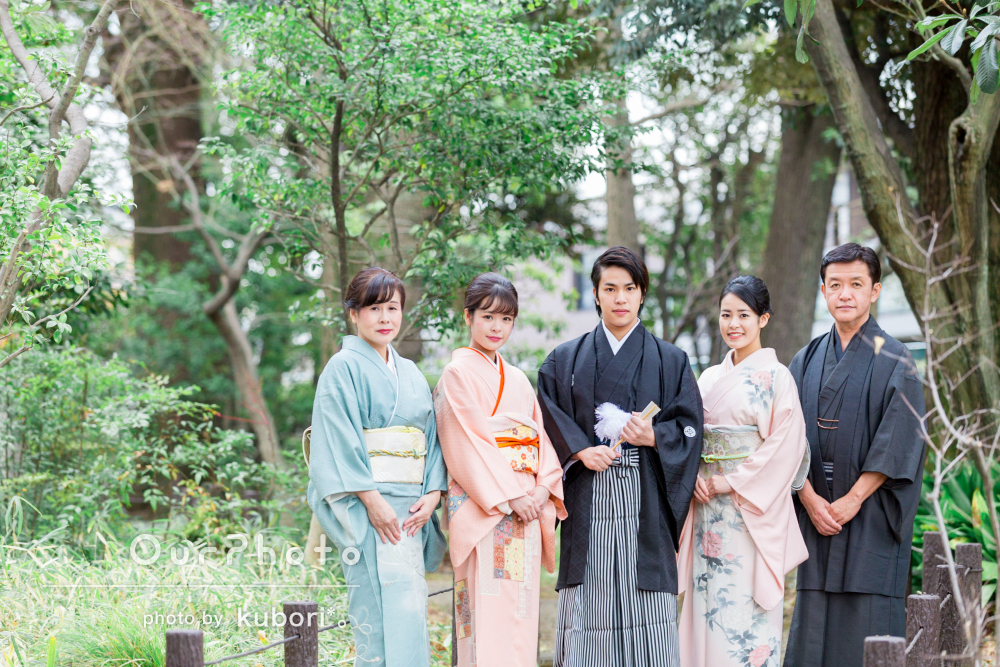 家族みんなで着物で。家族写真の撮影